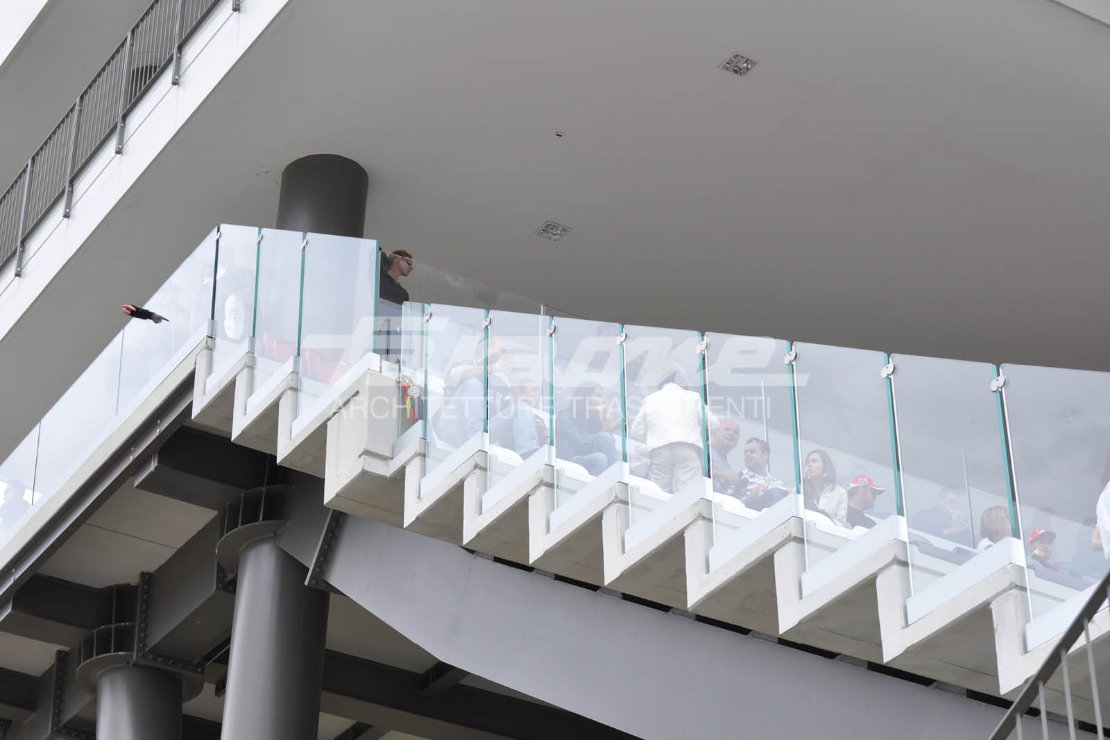 balaustre vetro alluminio