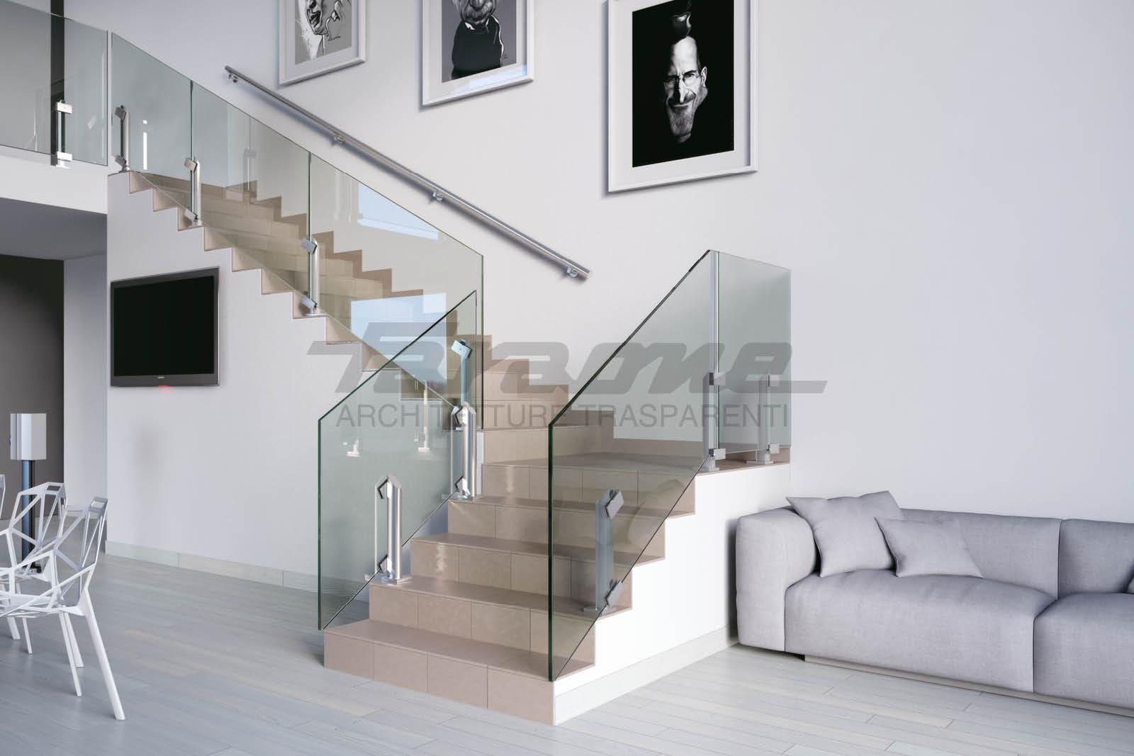 balaustre vetro alluminio Maior 60 Vision