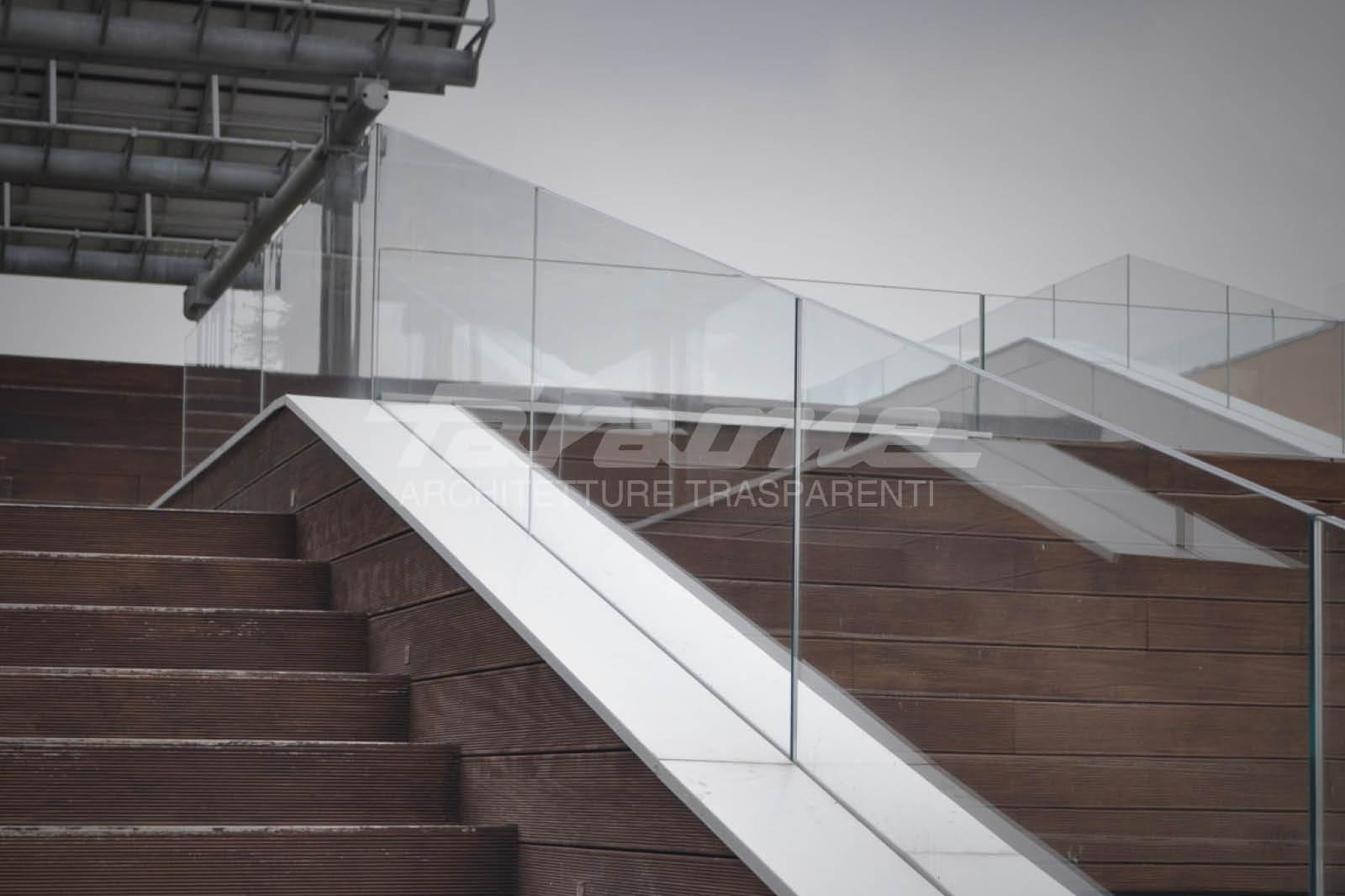 Balaustre alluminio vetro Ninfa