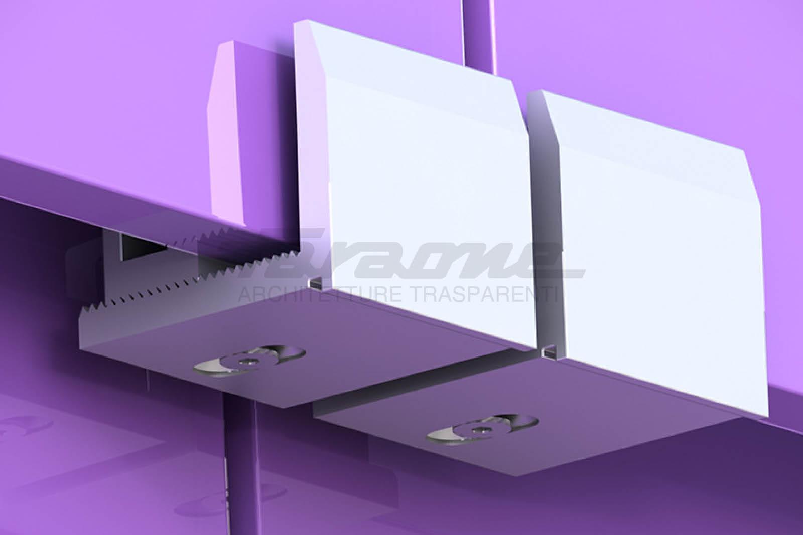 Facciate sospese vetro alluminio Klima