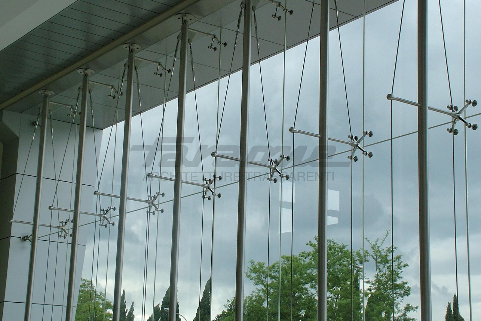 Facciate sospese alluminio vetro Air System