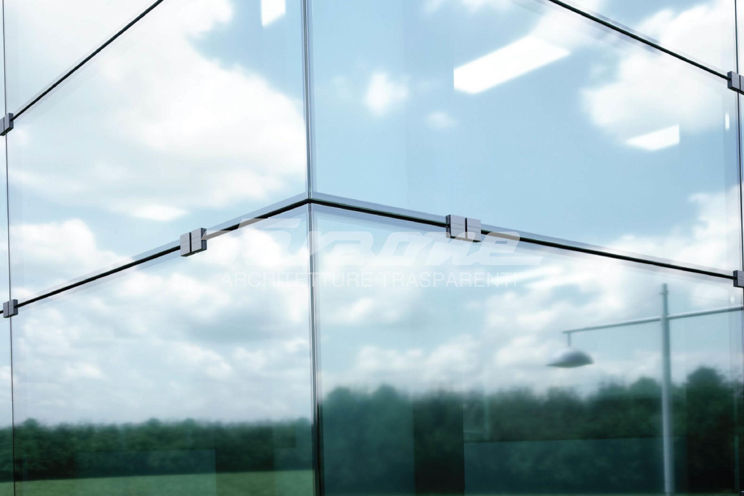 Facciate sospese di vetro e alluminio Klima color