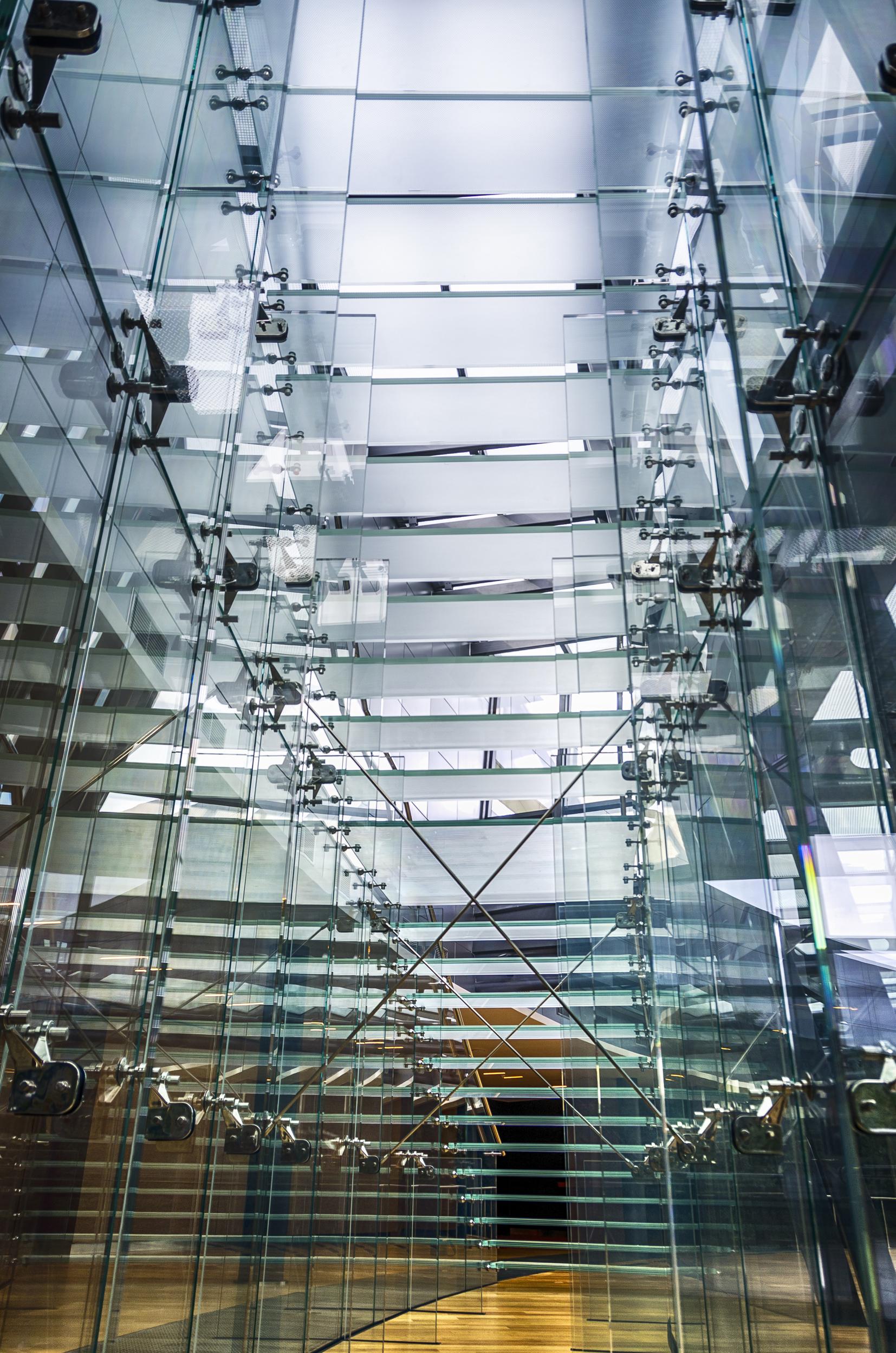 Scala vetro acciaio Mathis