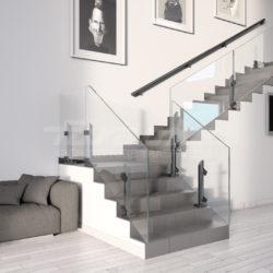 Balaustre vetro alluminio Maior Colors 60 Vision