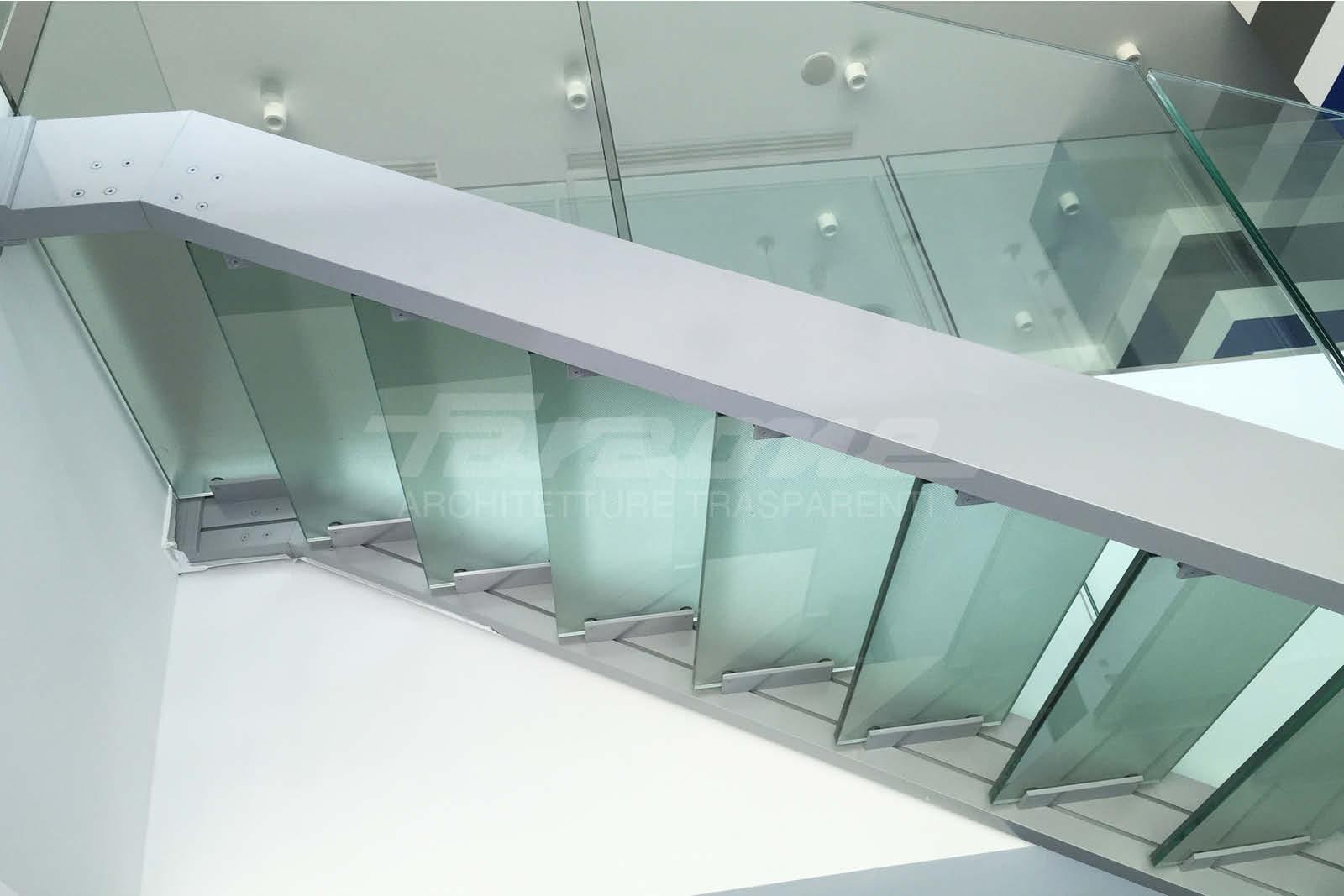Scale alluminio vetro Ninfa Scala