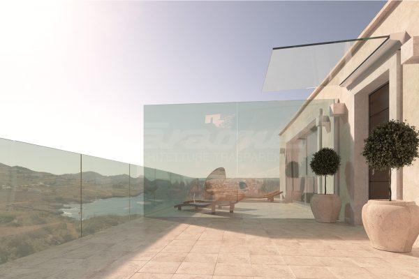 Pensiline vetro alluminio