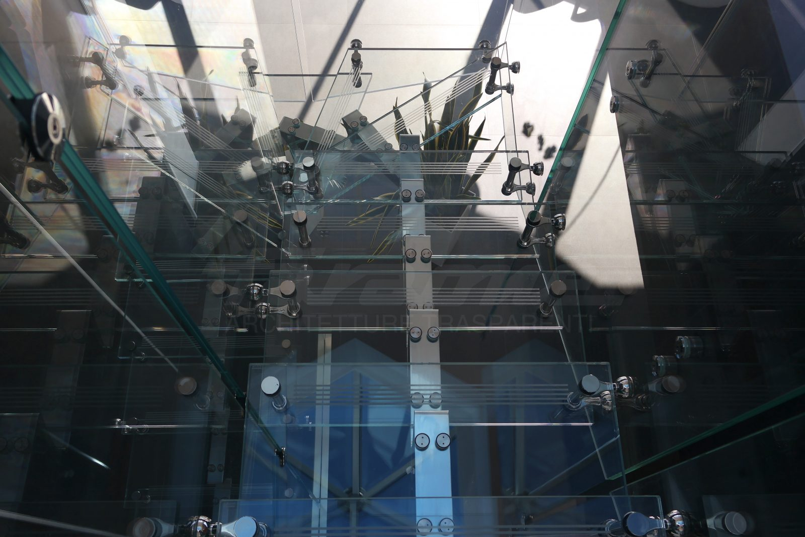 Scala Mistral vetro alluminio