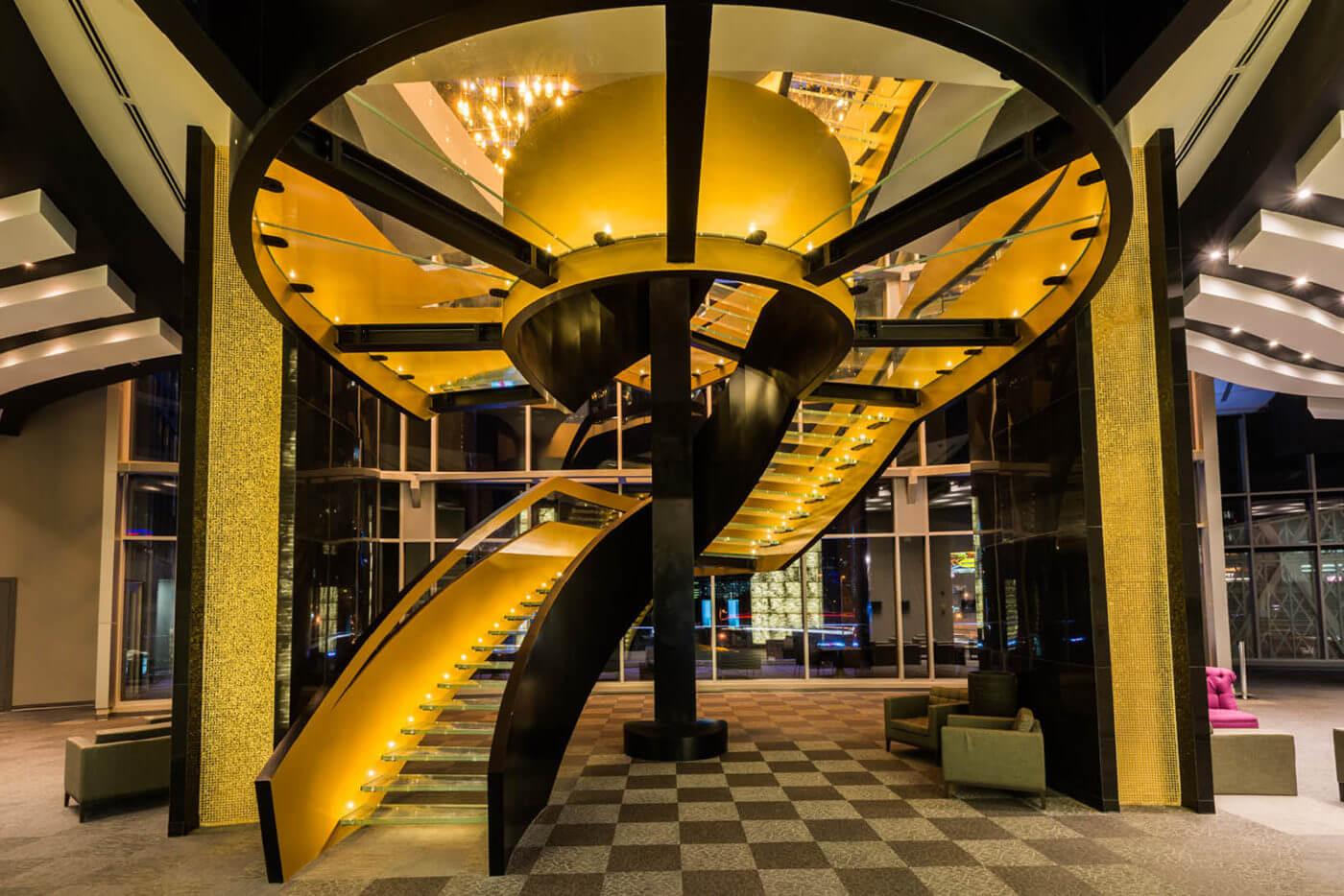 Parapetto in alluminio scala dorata Panama, Hotel las Americas