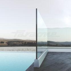 Balaustre in alluminio e vetro Ninfa 5