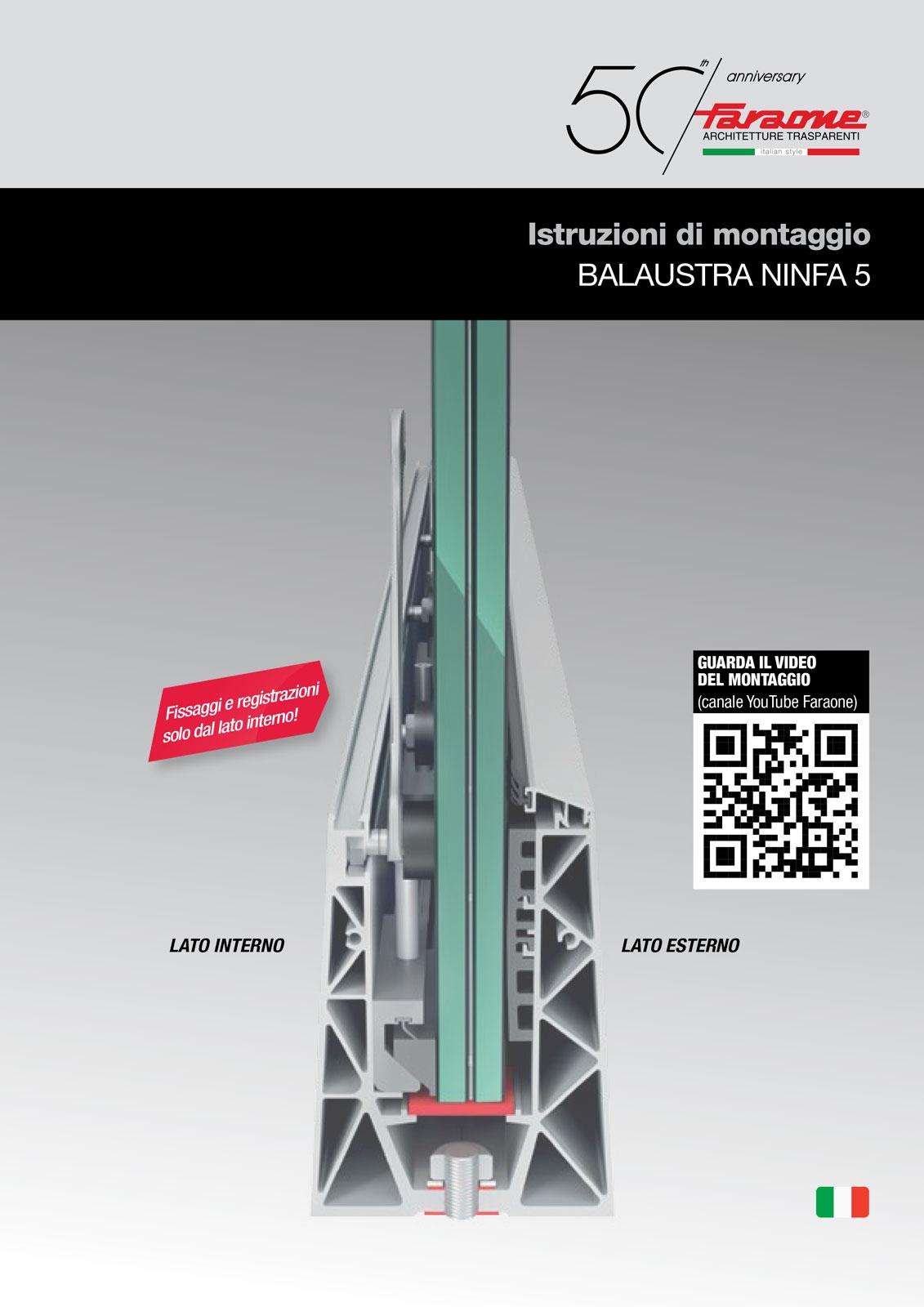 Istruzioni di montaggio parapetto Ninfa 5