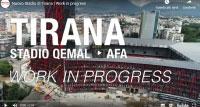 Impianti sportivi, parapetti in vetri allo stadio nazionale dell'Albania - Tirana