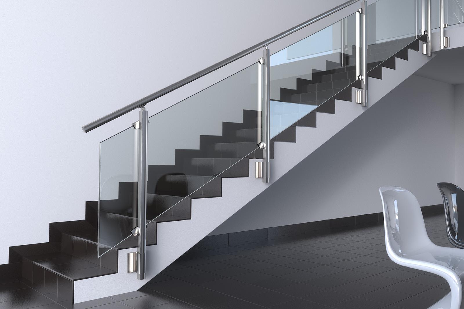 balaustre vetro alluminio Maior Colors Vision