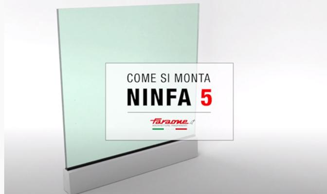 Parapetto in vetro e alluminio Ninfa 5