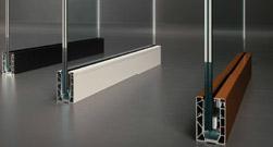 Parapetto in vetro e alluminio Ninfa 106